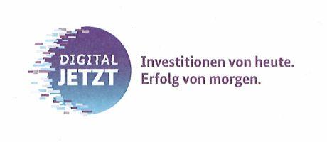 Logo: DIGITAL JETZT - Investitionen von heute. Erfolg von morgen.